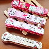 【易奇寶】日式鐵盒餐具 日式創意卡通家族餐具三件套 花蝴蝶