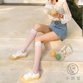 3雙裝半筒絲襪白色小腿襪薄款透明潮日系襪子女中筒【小酒窩服飾】