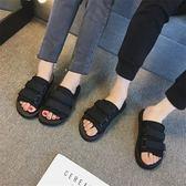 拖鞋男夏季情侶涼拖外穿旅行休閑沙灘鞋潮流防滑一字拖男涼鞋