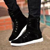 靴子 軍靴潮流韓版秋冬季馬丁靴男鞋加絨靴工裝高筒男靴子雪地棉靴短靴 雙11狂歡購物節