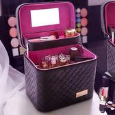 女性化妝包 大容量化妝包雙層多功能大號手提化妝品箱多層女特大號 珍妮寶貝