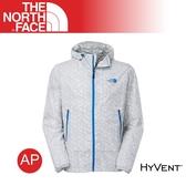 【The North Face 男 HyVent防水外套《等高線印花黑》】A4R2/輕量/防風外套/舒適柔軟