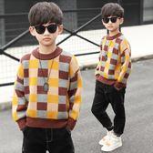男童毛衣套頭兒童加絨針織衫中大童男孩冬裝潮加厚秋冬款-BB奇趣屋