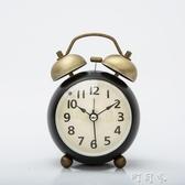 復古小鬧鐘創意迷你小鐘錶學生靜音床頭鐘臥室鬧鈴超大聲夜光時鐘 盯目家