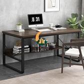 電腦桌電腦臺式桌書桌家用省空間辦公寫字桌子 烏木色 120*60*74CM【創世紀生活館】