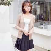 年秋季新款百搭短款針織衫女開衫春秋款長袖外搭薄款毛衣外套 完美居家