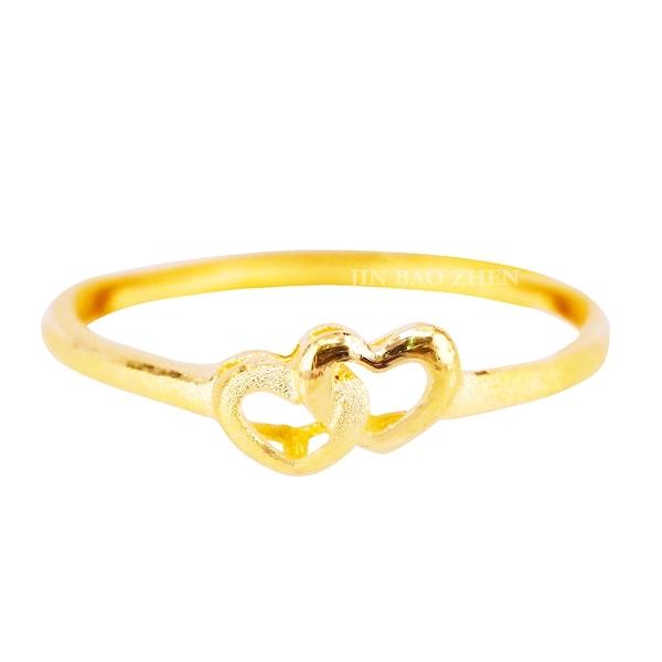 寵愛甜心-愛心黃金戒指
