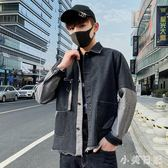 大碼 2019新款春秋男士牛仔外套流行韓版潮流休閒學生春季夾克 js25614『小美日記』