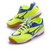 樂買網 MIZUNO 18SS 基本款 排羽球鞋 GATE SKY 3E寬楦 71GA174025 黃x藍 贈防撞護膝