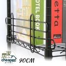 【居家cheaper】90CM層架專用烤漆圍籬1入/井字圍籬/防倒邊框/層架配件/圍籬邊條