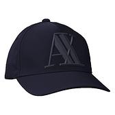 ARMANI EXCHANGE 阿瑪尼時尚橡膠標誌帽子(深藍色)