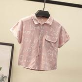 男童襯衫2020新款夏季童裝小童寶寶短袖上衣兒童夏裝韓版襯衣潮