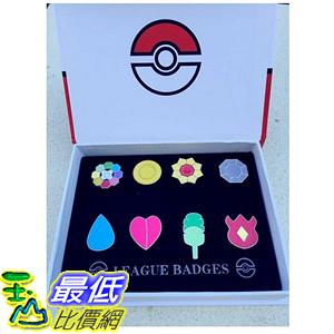 [美國直購] 神奇寶貝 精靈寶可夢周邊 Pokemon Gym Badges set of 8PCS  B00ZZNIZ22