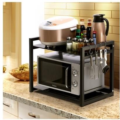 小鄧子廚房微波爐架烤箱架置物架儲物架收納架調料架調味架鍋架玻璃(雙層)