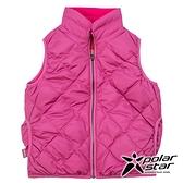 PolarStar 兒童 雙面穿羽絨背心『紫紅』P18255 戶外 休閒 登山 露營 保暖 禦寒 防風 刷毛
