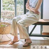 棉麻長褲-棉麻闊腿褲女薄款寬鬆麻料亞麻褲 MG小象