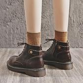 馬丁靴 馬丁靴新款2021秋季加絨英倫風春秋單靴顯腳小ins潮秋冬女鞋短靴 伊蒂斯