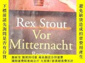 二手書博民逛書店Rex罕見Stout Vor MitternachtY15389