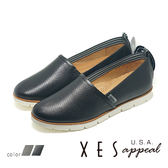 XES女鞋 樂福鞋 壓紋生活休閒鞋 舒適柔軟 EASY Q  懶人鞋 MIT製造 _優雅黑