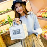 雙十二狂歡 飯盒袋保溫袋飯盒包便當包手提袋帶飯包手提包防水便當袋帆布拎大 艾尚旗艦店