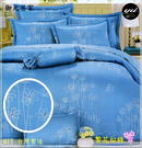 雙人【兩用被套+薄床包】(5*6.2尺)/高級四件式100%純棉雙人『繁花似錦』