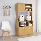 櫥櫃 廚房櫃 收納【收納屋】蓋亞高廚房櫃-原木色 &DIY組合傢俱