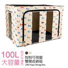 收納箱 【BOA902】100L狗狗款 ...