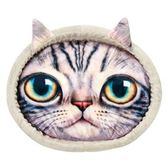 【MARUKAN】貓臉寫真印花貓窩-灰(CT-342)