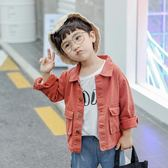 男童牛仔外套 兒童新款韓版寶寶長袖上衣中小童秋夾克童裝潮 QG7814『優童屋』