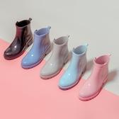 雨鞋 雨鞋女士防滑低筒雨靴短筒中筒可愛時尚款外穿膠套加絨防水鞋【全館免運】