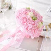 VIKI-結婚新款粉紅白仿真歐式婚禮花束婚紗影樓攝影拍照道具新娘手捧花 nm4203 【VIKI菈菈】