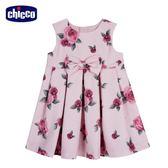 chicco-皇家玫瑰系列-印花背心洋裝-粉