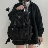 小背包 書包女韓版高中大學生百搭工裝風多功能背包男ins大容量雙肩包潮 朵拉朵YC