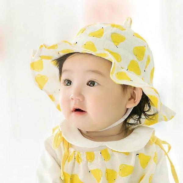 (出清)夏童帽  寶寶遮陽帽 韓版嬰兒 漁夫帽 寶寶防曬帽 太陽帽 公主草帽  (帽圍48-50cm)【JD0048】
