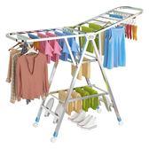 不銹鋼晾衣架落地折疊室內家用陽臺臥室簡易嬰兒寶寶涼衣服曬架子YYJ     原本良品