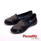Piccadilly 閃亮貼鑽麂皮包鞋 ...