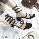 涼鞋.前衛繞腳跟涼鞋【KV5002】黑