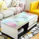 茶幾桌布防水防燙歐式長方形軟塑料玻璃膠墊...