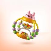 手搖鈴澳貝花籃沙漏手搖鈴寶寶玩具0-1歲新生嬰兒搖鈴玩具鍛煉手指靈活 俏女孩