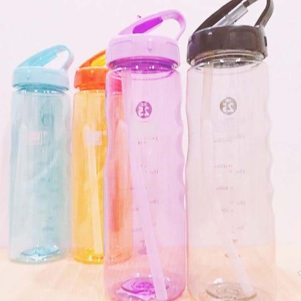 水杯    輕巧吸管彩色OZ25運動水壺700ml 寬口杯 茶漏 水瓶 運動水壼 食品級PC 【KCP015】-收納女王
