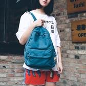 日系做舊文藝水洗帆布雙肩包森系學院風男女學生書包輕便旅行背包