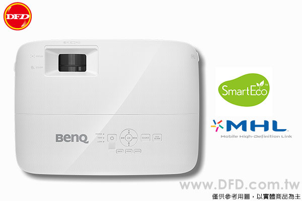 BenQ 明基 MS610 SVGA商務投影機 4000流明高亮度 MHL連接 SmartEco™模式 公司貨