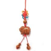 十二生肖金砂石豬吊飾