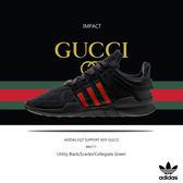 IMPACT Adidas EQT Support ADV Shoes GUCCI 黑 紅 綠 古馳 慢跑 BB6777
