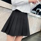 百褶裙 黑色百褶裙半身裙女夏2021新款春秋高腰灰色白色短裙西裝大碼胖mm 晶彩