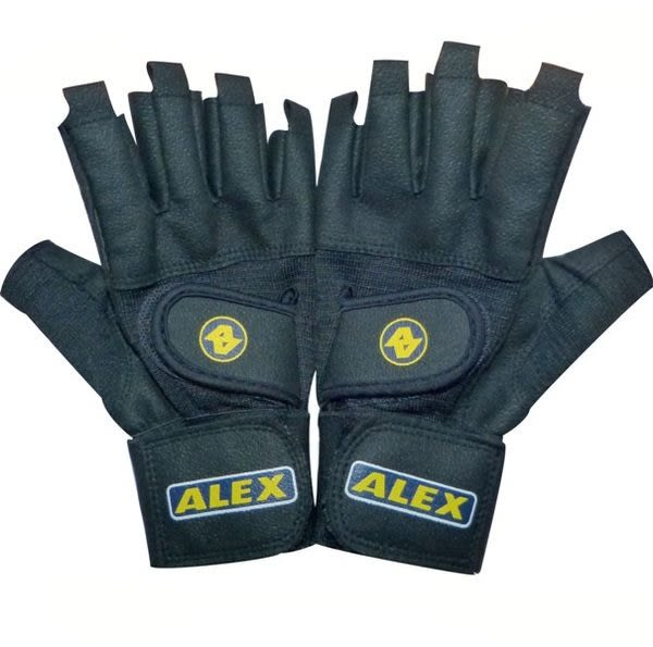 ALEX皮革重量訓練手套(手腕腕關節固定加強版)A-18