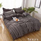 四件套床上用品1.8m被套床單1.5學生宿舍單人三件套1.2米 igo  薔薇時尚