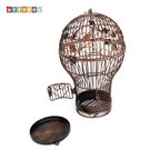DecoBox燈泡古銅小花架(鳥籠,燈泡...