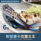 【屏聚美食】巨無霸斯里蘭卡公花蟹6隻(400G/隻)