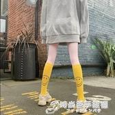 小腿襪夏季薄款長襪子女ins潮街頭笑臉中筒襪半高筒襪瘦腿及膝襪 雙十二全館免運